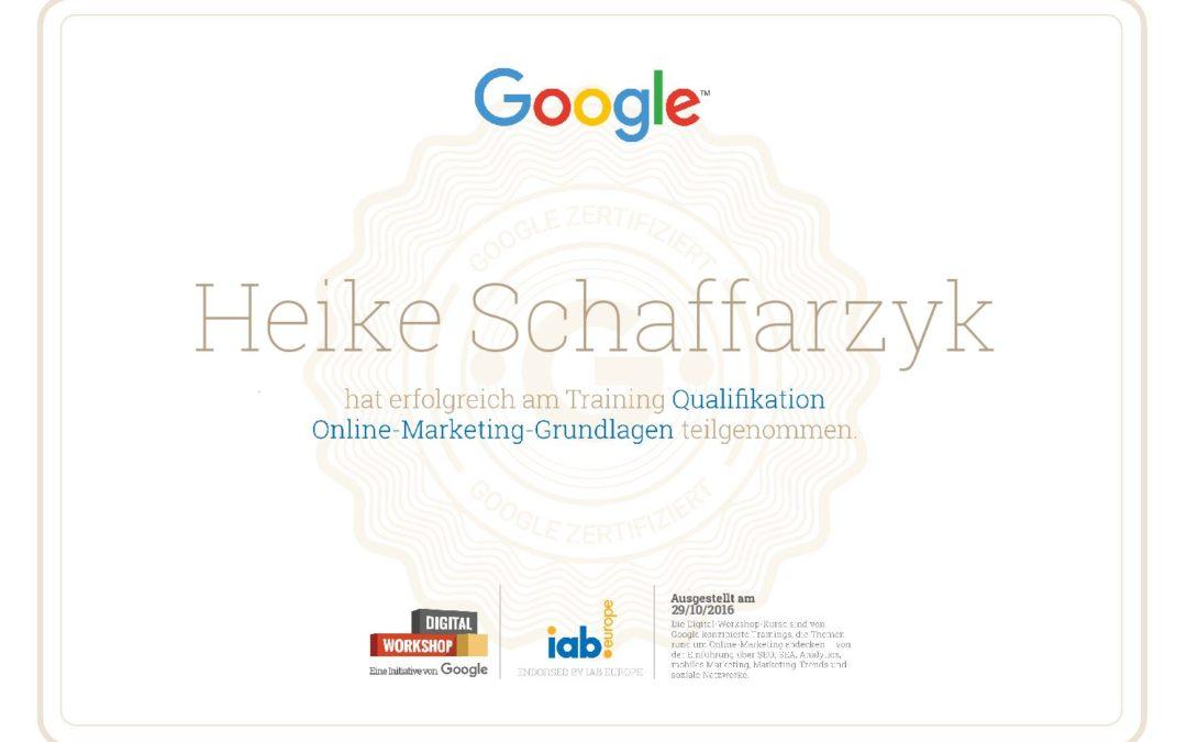 Zertifizierung für AdWords-Suchmaschinenwerbung